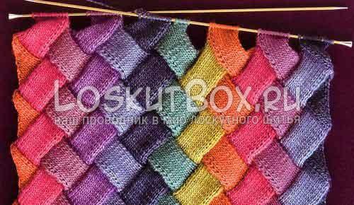 156 Вязание в стиле энтерлак спицами для начинающих