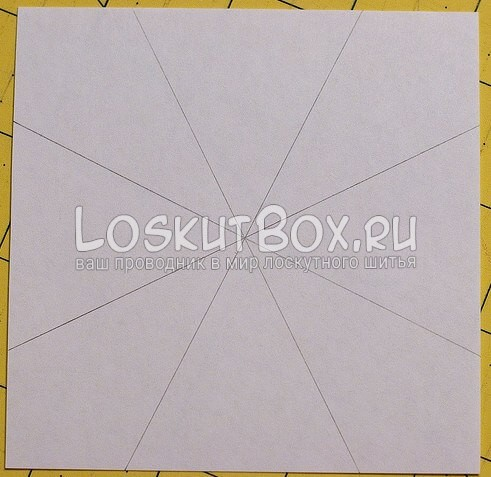 Лоскутный блок — калейдоскоп (4)