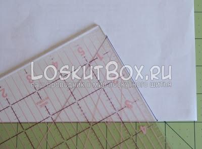 лоскутный блок из полосатых треугольников (3)
