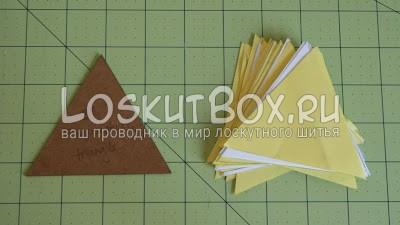 лоскутный блок из полосатых треугольников (4)