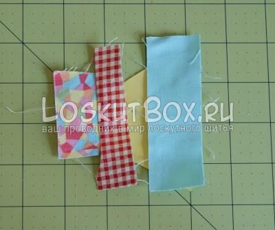 лоскутный блок из полосатых треугольников (9)