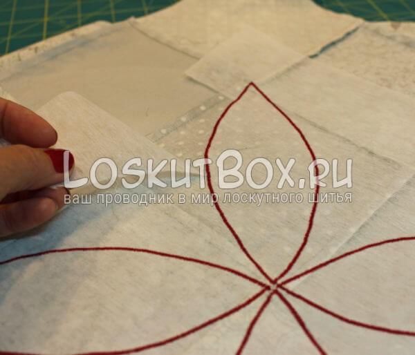 Лоскутная салфетка на стол (10)