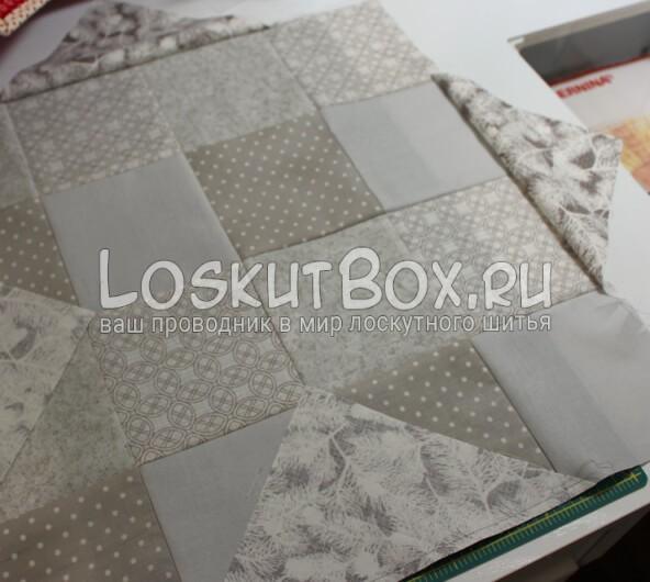 Лоскутная салфетка на стол (16)