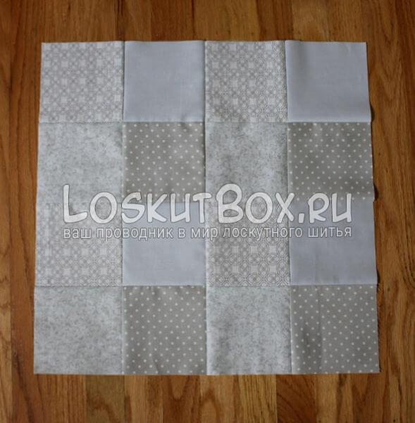 Лоскутная салфетка на стол (4)