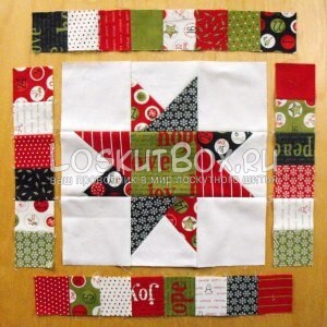 лоскутное одеяло со звездами (17)