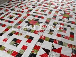 лоскутное одеяло со звездами (20)