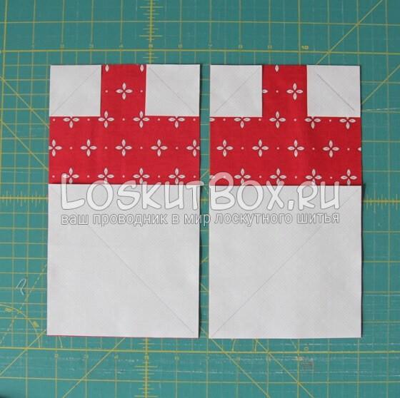 Сшиваем детали блоков для лоскутного одеяла