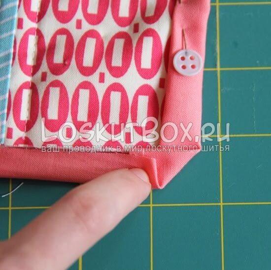 Как сделать аккуратный угол у лоскутного одеяла