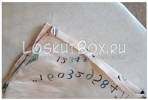 Обработка краев деталей верхней фальды