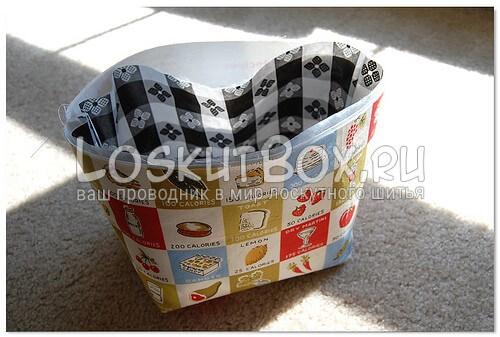 Корпус сумки с вложенной подкладкой