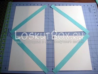 раскладка бумаги и первые полоски