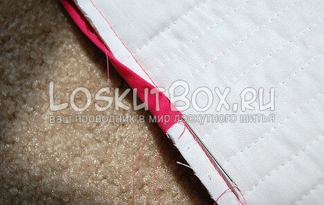 Пришивание тесьмы вручную