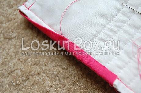 Пришивание тесьмы вручную (продолжение)