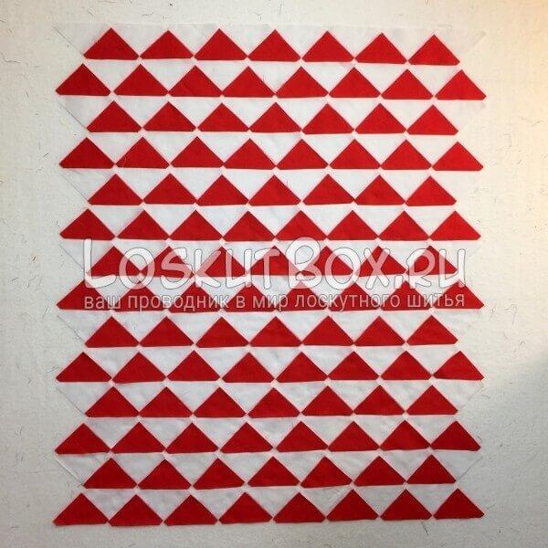 Сшиваение треугольничков