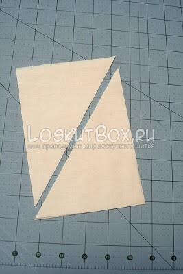 Вырезание треугольников для лоскутного шестиугольника
