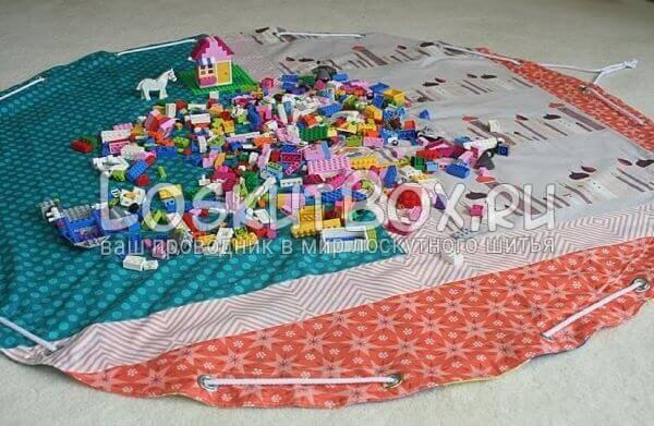 сумка пэчворк для игрушек