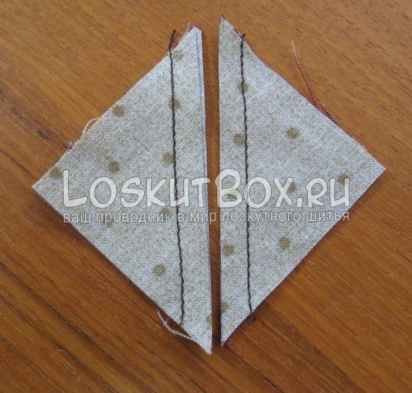 Таким образом получаем блок из треугольников