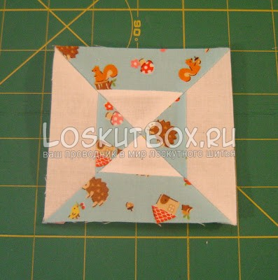 Лоскутной блок Двойные песочные часы. Лоскутное шитьё для начинающих схемы.