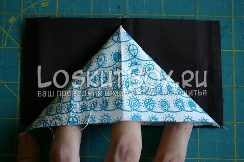 внутренняя ткань треугольником