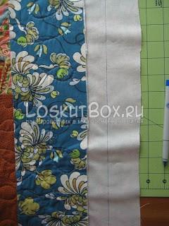Чертим линию на подкладочной ткани