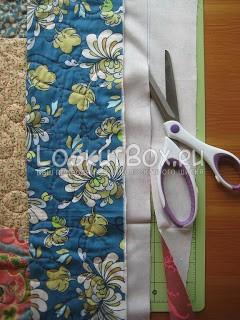 Излишки подкладочной ткани срежем