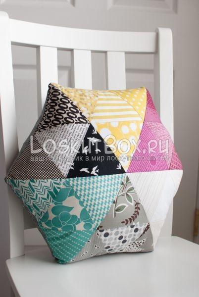 Подушка из треугольников. Вид 2