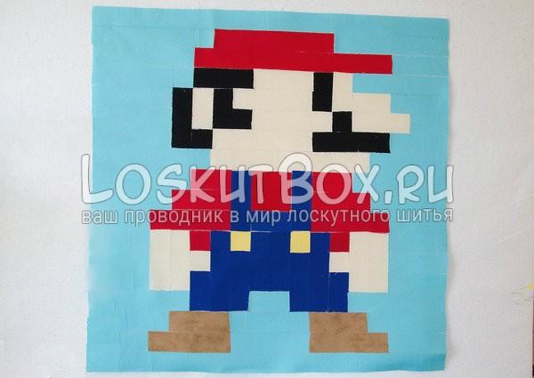 Рисунок целиком. Супер Марио
