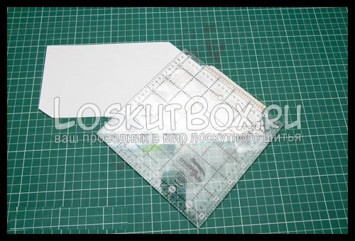 лоскутное шитьё по бумаге