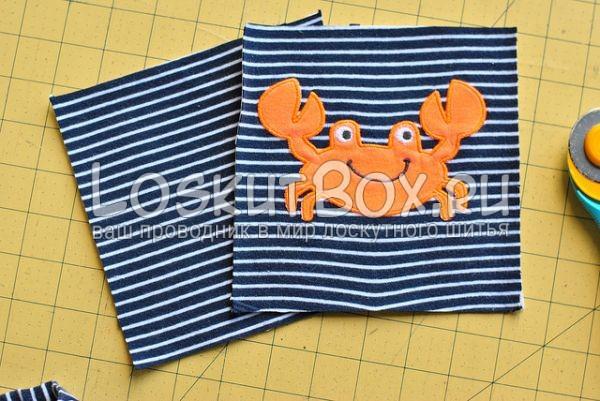Квадраты для одеяла из детской одежды