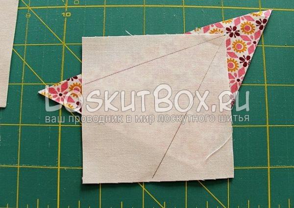 Расположение квадрата на ткани