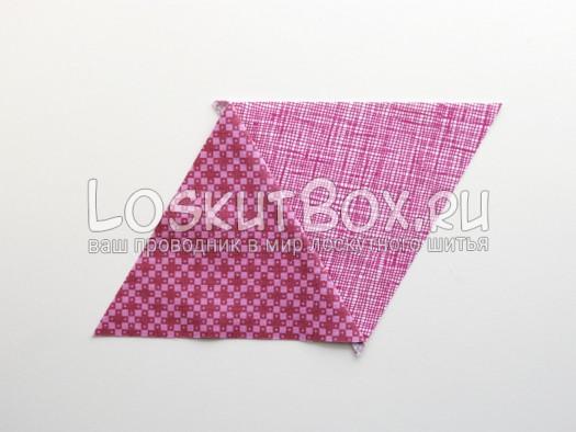 Секция 1. Разглаживание 1 шва. Подушка из треугольников