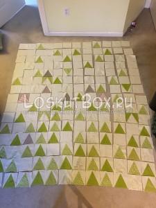 Раскладывание блоков в рисунок. Зимний лес.