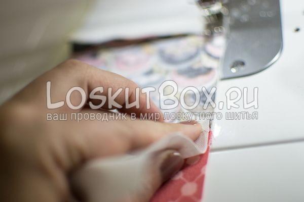 Фиксация шва во время работы на машинке