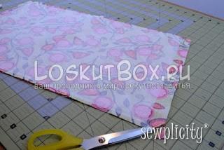 Сшивание деталей сумки и подрезка уголков