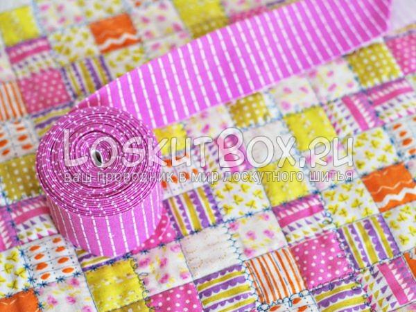 Обработка края лоскутного одеяла