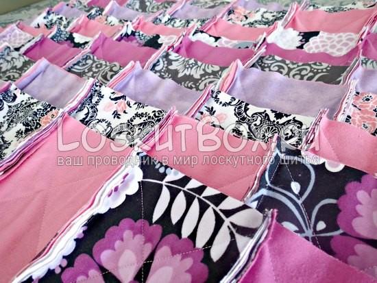 Сшитые полосы одеяла