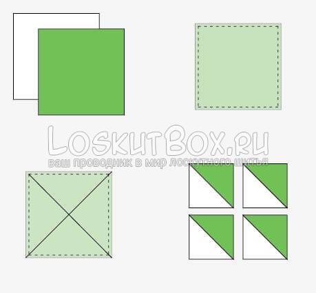 Разрезаем квадраты для вертушек