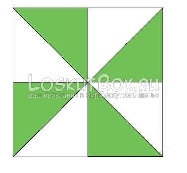 Соединяем квадраты
