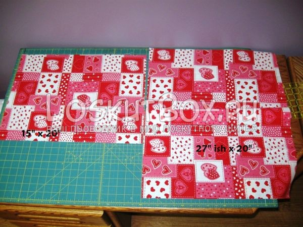 Фрагменты подкладочной ткани для фартука пэчворк