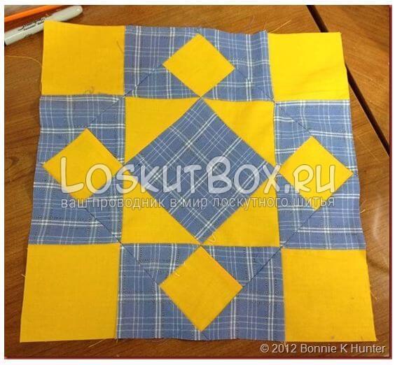 готовый блок из квадратов для пэчворка