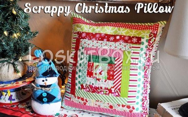 рождественская подушка