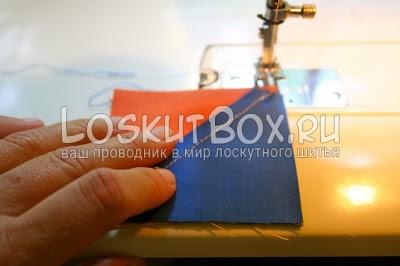 пальцы ткань швейная машина