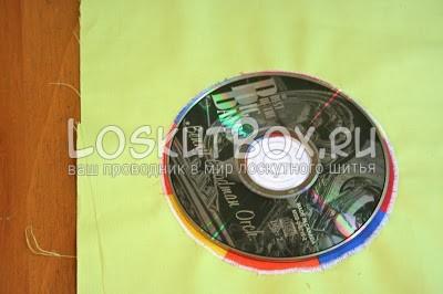 диск ткань аппликация из ткани