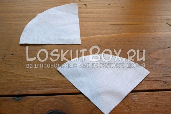 детали из ткани на рабочем столе