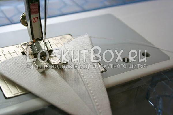 деталь из ткани машинная лапка строчка