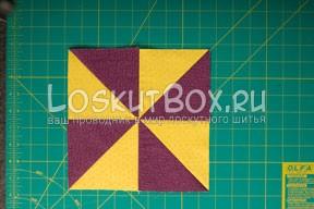 Блок из треугольников