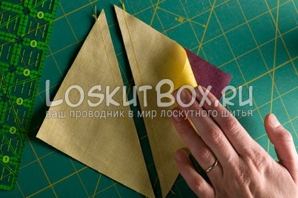 разрез по диагонали