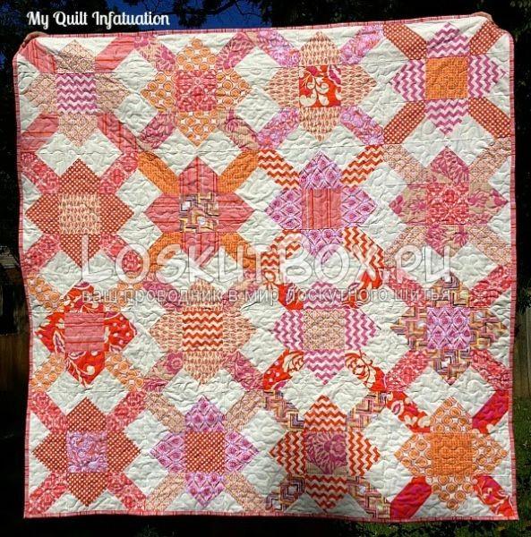 пример одеяла с блоком шнуровка