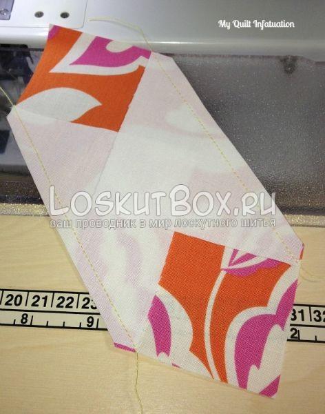 шнуровка - лоскутный блок