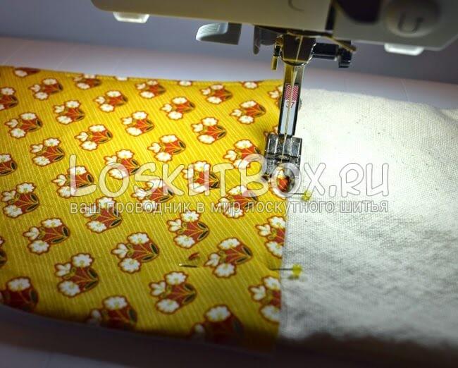 пришивание полотенца петли